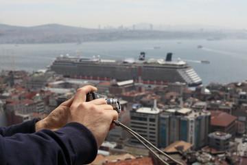 Bosporus and a camera,Istanbul