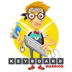 Cyberbully Nerd Geek Keyboard Warrior illustration