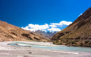 Fantastic himalayas mountains landscape