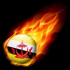 Round glossy icon of Brunei