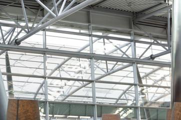 Glasdach, Stahlkonstruktion