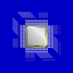 vector cpu computer technology, electronic concept.