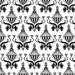 Fantasy patterned black and white