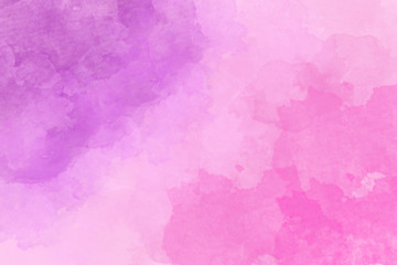 Beautiful pink and purple blurred background with dark watercolor spots