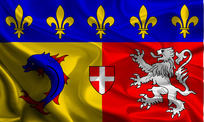 Flags of Regions of France: Rhone-Alpes