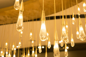 Hanging lamps on ceiling