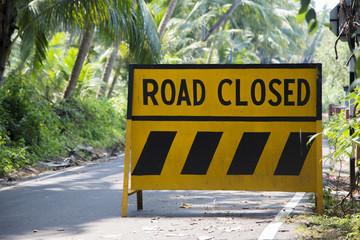 Road sign in Goa, India