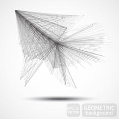 Modern digital technology style, abstract polygonal objects background, vector tech 3d surface.