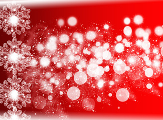 Red winter Christmas background . New year Background