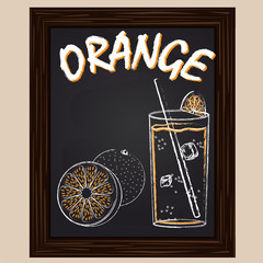 fresh orange juice and orange