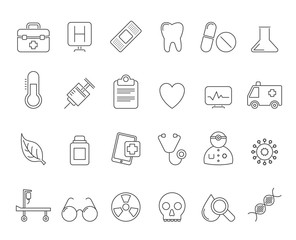 Health Care and hospital icons - vector icon set