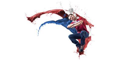 Dancer in jump