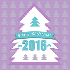 Lilac holiday tree card
