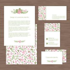 Vector corporate identity, flower design