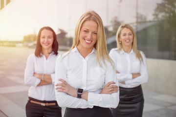 Happy corporate business women