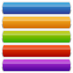 Empty rectangular button, banner backgrounds with rounded corner