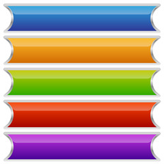 Set of colorful buttons, banners or plaques
