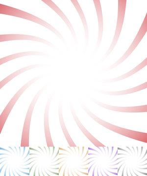 Twisting starburst, sunbrust abstract pattern. vector.