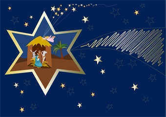 presepe dentro a stella cometa