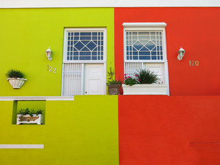 Colorful houses in the Malay Quarter, Cape Town