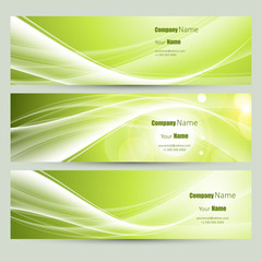 Abstract Eco banner background