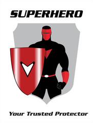 superhero. superhero with the shield
