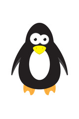 cute cartoon penguin animal vector character