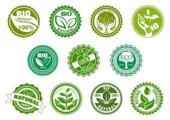 Bio, eco, organic and natural green labels
