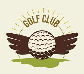 Golf club sport game graphic