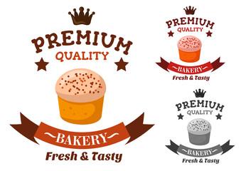 Premium bakery and pastry shop emblem