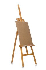 Easel isolated on the white background