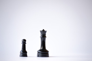 Queen and pawn
