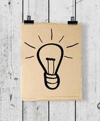 poster with drawing lamp