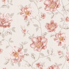 Stores photo Fleurs Vintage flowers seamless pattern - For easy making seamless pattern use it for filling any contours