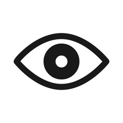 Retina scan eye flat icon for medical apps and websites