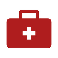 First aid kit flat icon for medical apps and websites