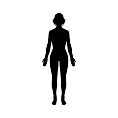 Female human body belonging to an adult woman