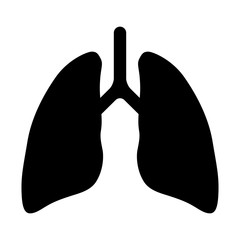 Human lung flat icon for app and website