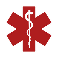 Medical alert emergency / ems flat icon for apps and websites