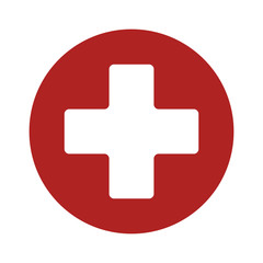 First aid medical sign flat icon for app and website