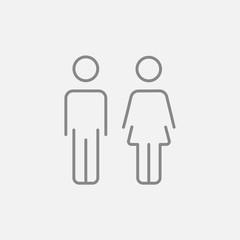 Couple line icon.