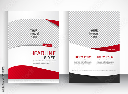 Vector Design Of The White Flyer Black Red Elements And Place For