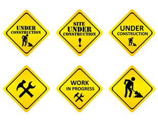 Web site under construction graphics