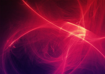 Abstract Background Light Lines And Curves With Particles
