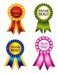 Thank you ribbon rosettes