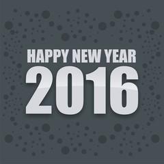 Greeting Card Happy New Year 2016 Design Illustration
