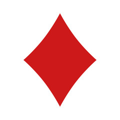 Playing card diamond suit flat icon for apps and websites