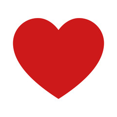 Heart, love, romance or valentine's day red vector icon for apps and websites