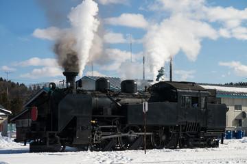 SL Fuyu-no-Shitsugen Train (SL 冬の湿原号) in Hokkaido, Japan
