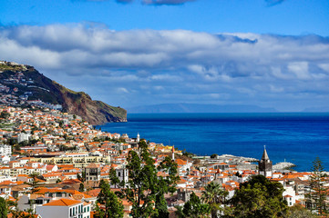 Panoramic view of Funchal, Madeira, Portugal